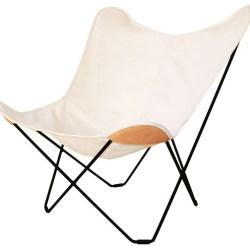 Flagermusstol i kanvas , hvid - Cuero