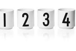 Espresso kopper, 1-2-3-4 - Design Letters