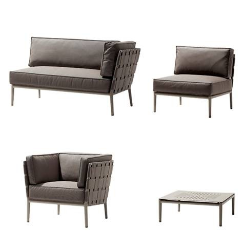 Conic extension stol / sofa modul inkl. hyndesæt - Cane-Line
