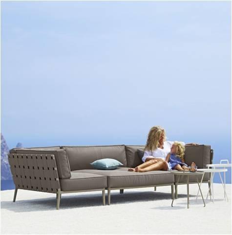 Conic 2 pers. sofa venstre inkl. hyndesæt - Cane-Line