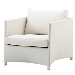 Diamond lounge stol hvid inkl. hynde - Cane-Line