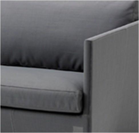 Diamond sofa 3 pers. grå inkl. hynde - Cane-Line