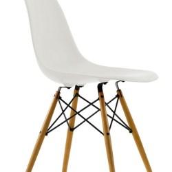 Eames Stol (DSW) - Natur - Hvid