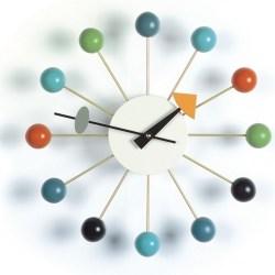 Vitra - Ball Clock - Hvid (multifarvet)