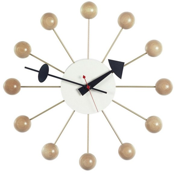 Vitra - Ball Clock - natur-hvid(vægur)