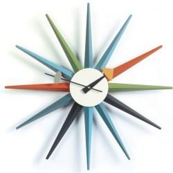 Vitra - Sunburst Clock - Multifarvet (vægur)