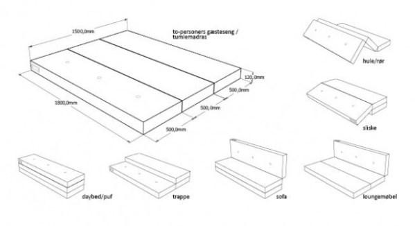 KlipKlap 3 fold XL i multi grå