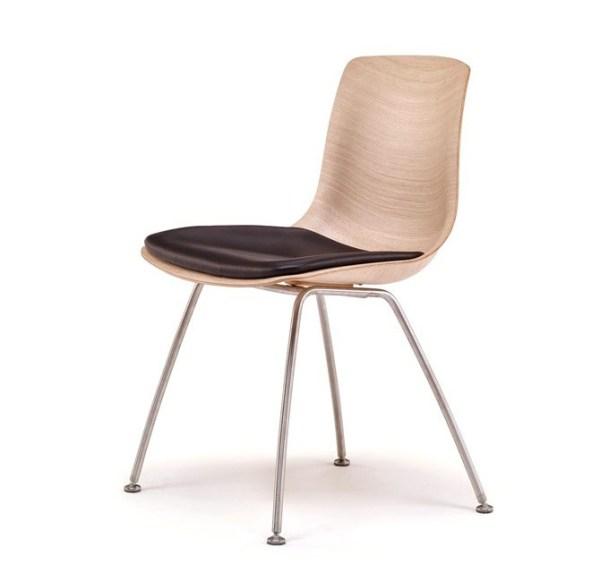 Tulip stol i valnød stålstel