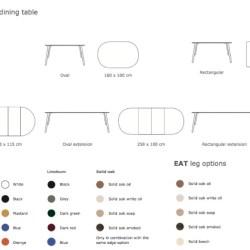 Eat spisebord rundt solid - Via CPH