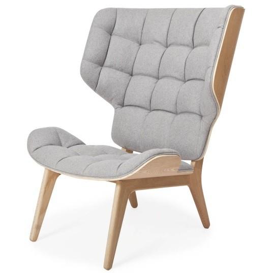 Mammoth Chair, Fluffy, Uld, Grå
