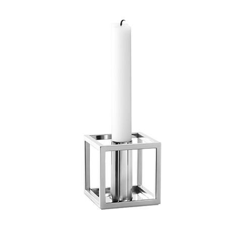 Kubus Lysestage - Nikkel - 1 Lys