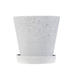 Hay - Flowerpot with Saucer - grå (small)
