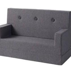 KlipKlap - KK Kids sofa- Blå/grå