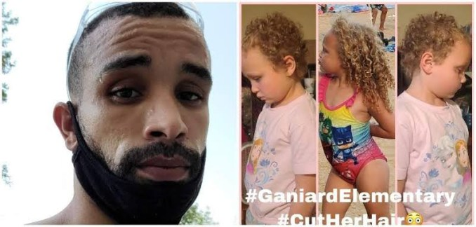 Father files M lawsuit after teacher cuts his 7 year old Bi-racial daughter