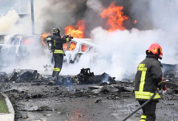 Private passenger plane crashes into office building in Milan killing all on board