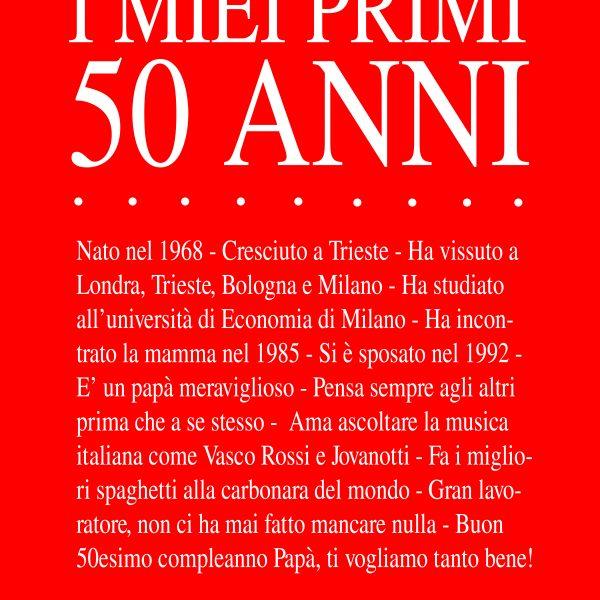 Stampa Personalizzata Con Frasi Su Festeggiato I Miei Primi 50 Anni Olalla