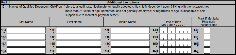 BIR Form 2305 Certificate of Update of Exemption and of Employer's and Employee's Information