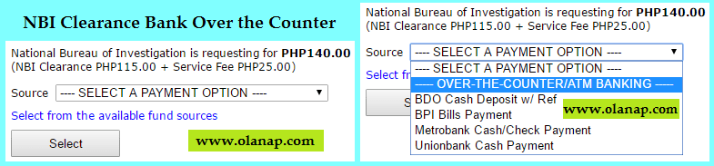 NBI Clearance Bank Over the Counter payment