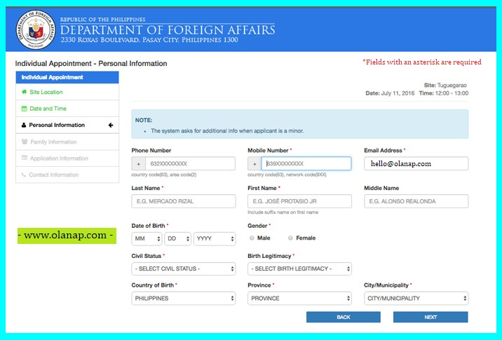 how to schedule dfa appointment for your passport