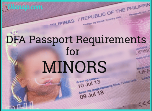 DFA Passport requirements for Minors - Olanap.com