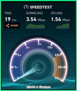 Globe data speed test using Globe AT HOME Prepaid WIFI - Cavite (Tanza)