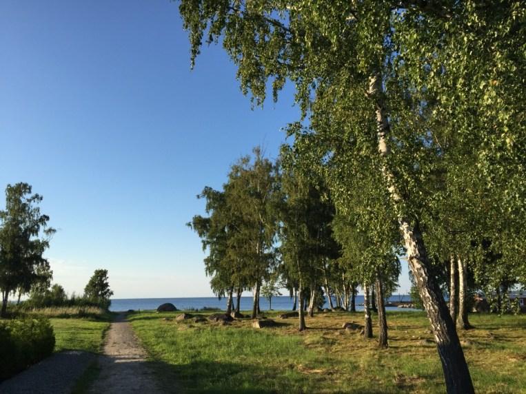 Gång-/cykelväg till stranden