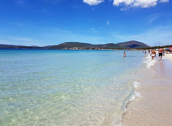 Spiaggia di Maria Pia, Alghero, Szardínia