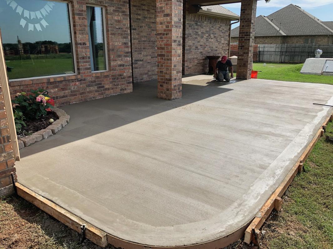 concrete patio extensions olathe concrete