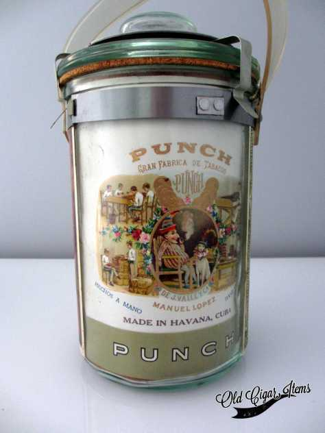 Punch Presidentes glass jar