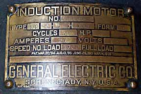 General Electric Generator and Slate Switch Meter Panel