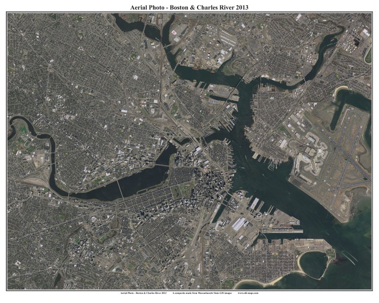 2013 Aerial Maps of Boston  Massachusetts