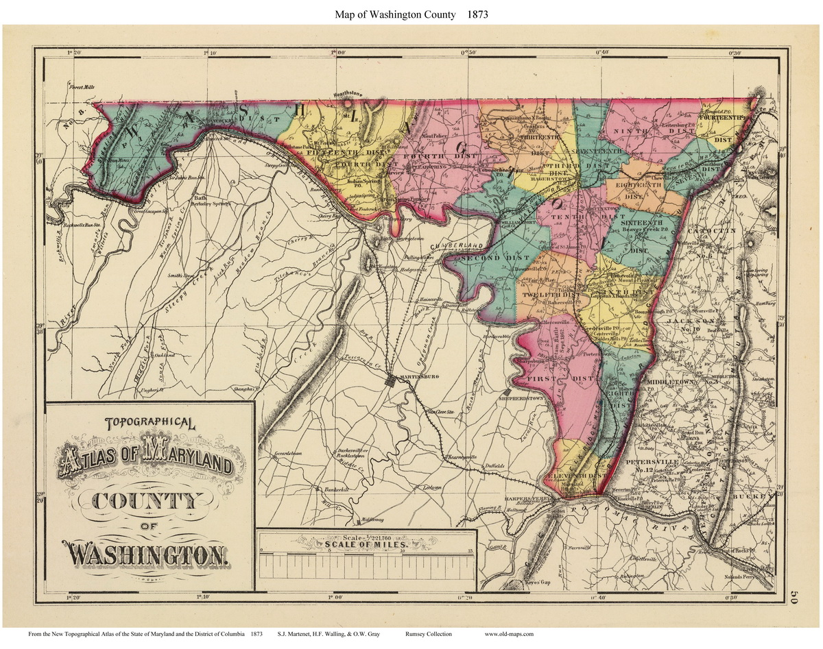 St Charles And Map County Marys Calvert