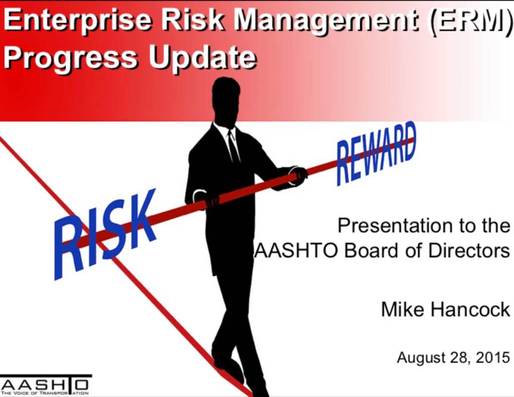 ERM Progress presentation first slide