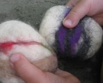 Wet Felting Paperweights