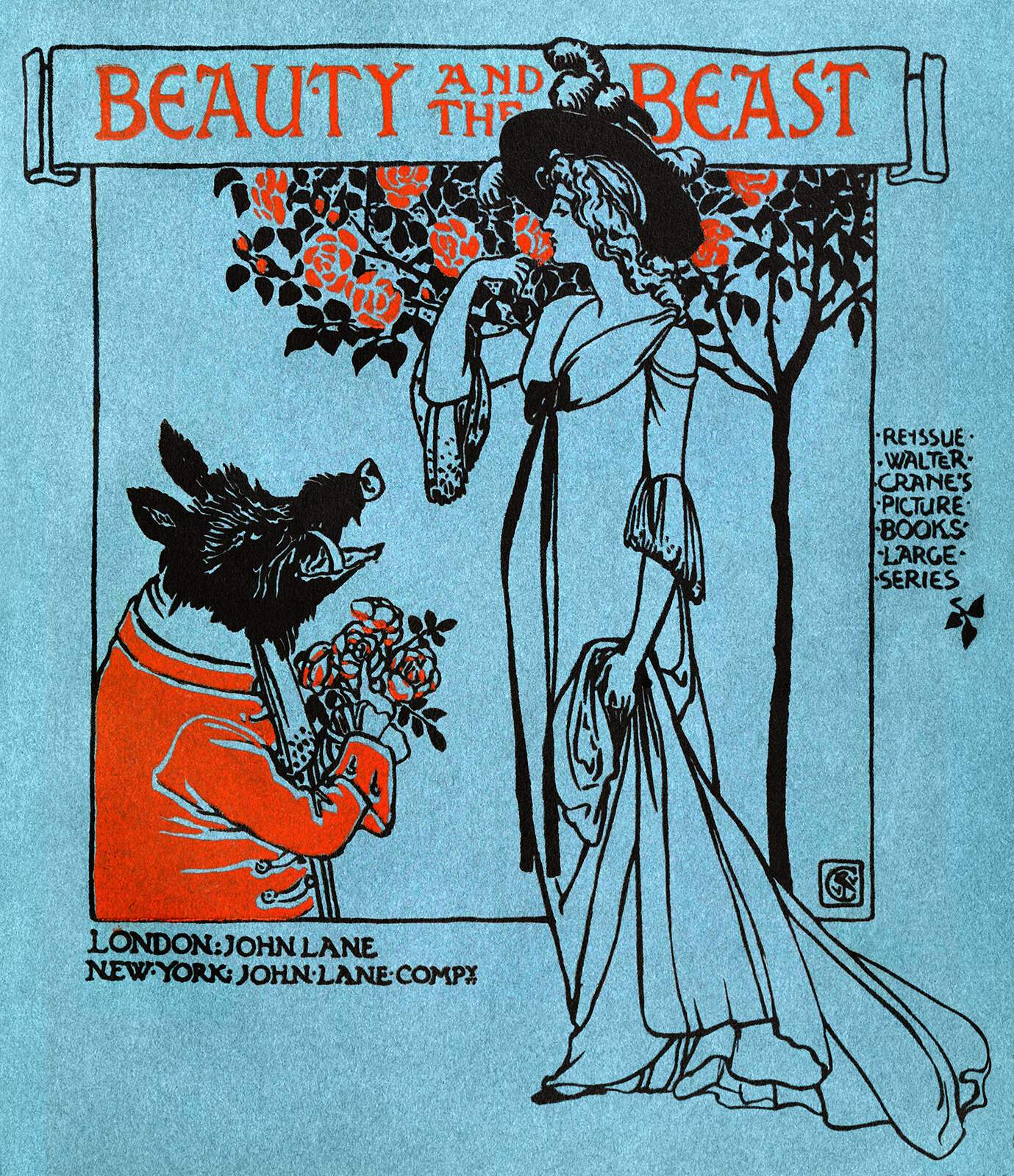 Beauty And The Beast Cover Old Book Illustrations