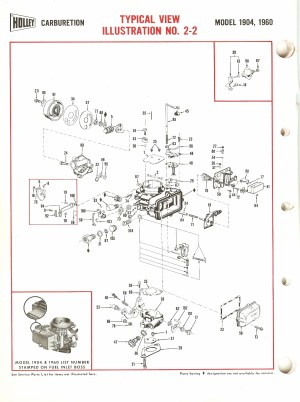 Holley 1904, 1906 Exploded Diagrams  The Old Car Manual