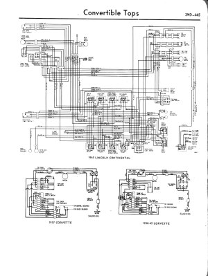 57 convertible wiring harnessconv top  TriFive, 1955