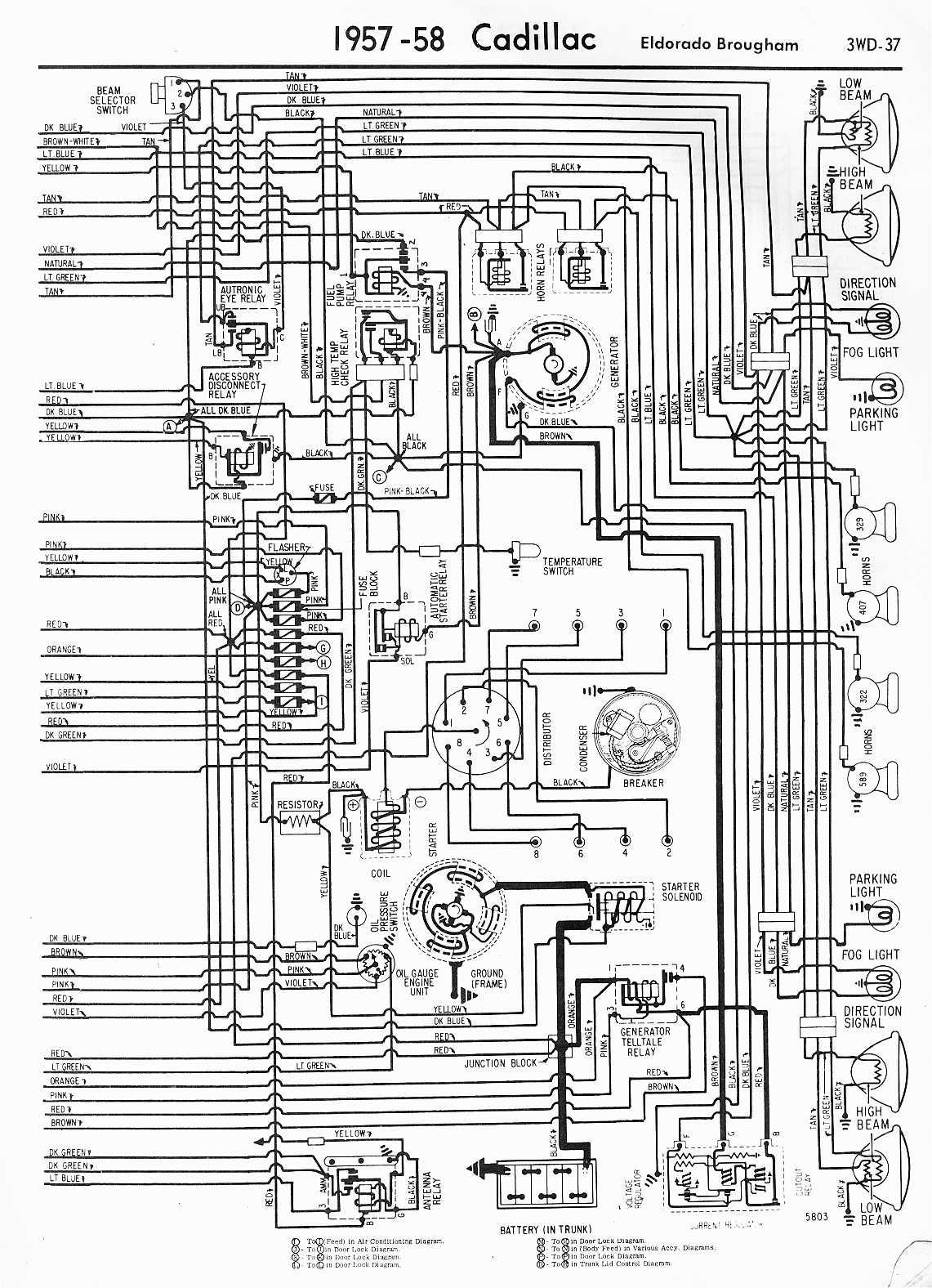 Cadillac Lights Wiring Diagram : Cadillac seville sts wiring diagrams