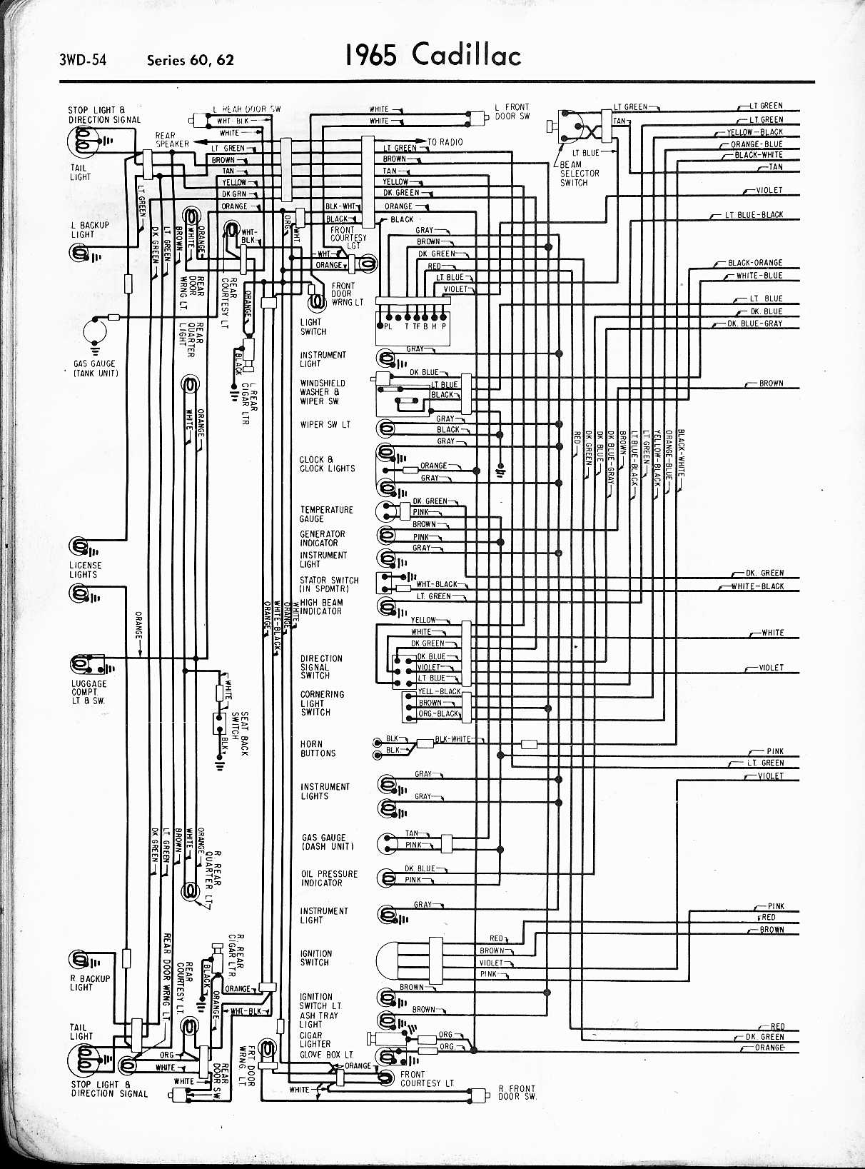 1965 Cadillac Wiring Diagram Td Colorful Mg Festooning Schematic Series Fleetwood