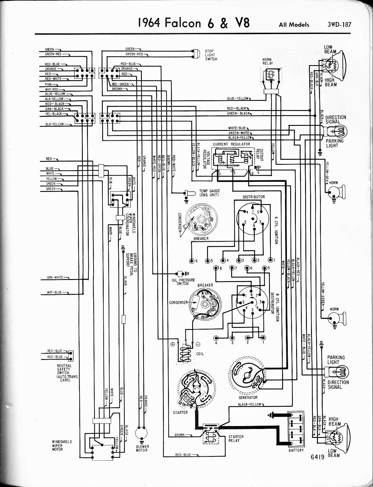 I Need An Electrical Schematic For A Ford Falcon