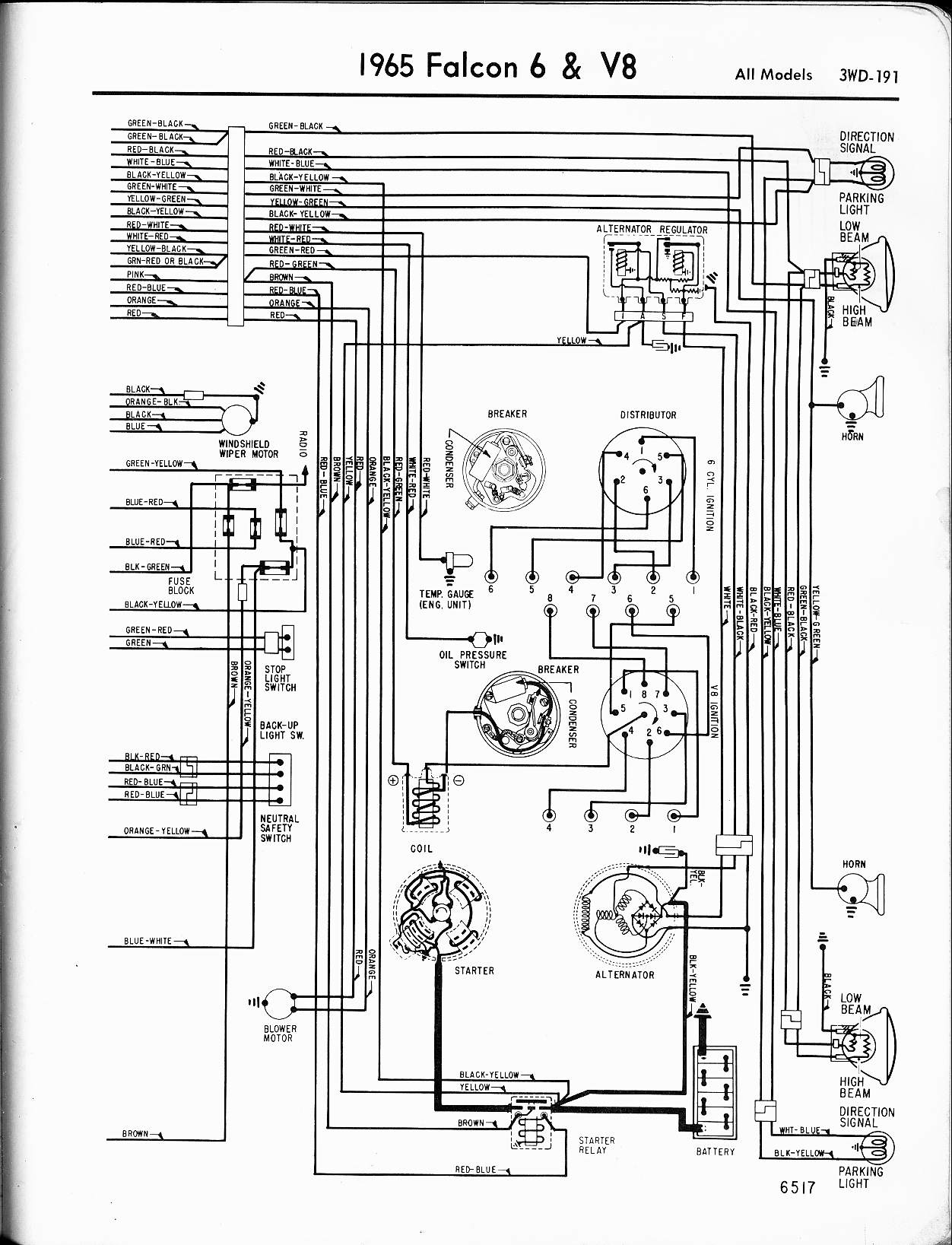 65 Mustang Ignition Switch Wiring Diagram