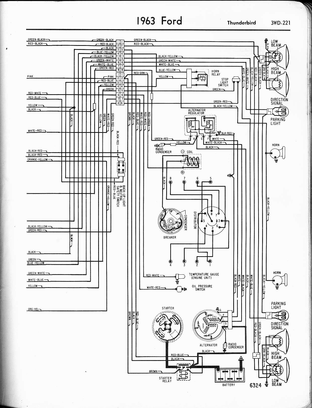 Diagram 1964 Ford Falcon Schematic Diagrams 1963 Ford Falcon Wiring-Diagram  66 Ford Falcon Wiring Diagram