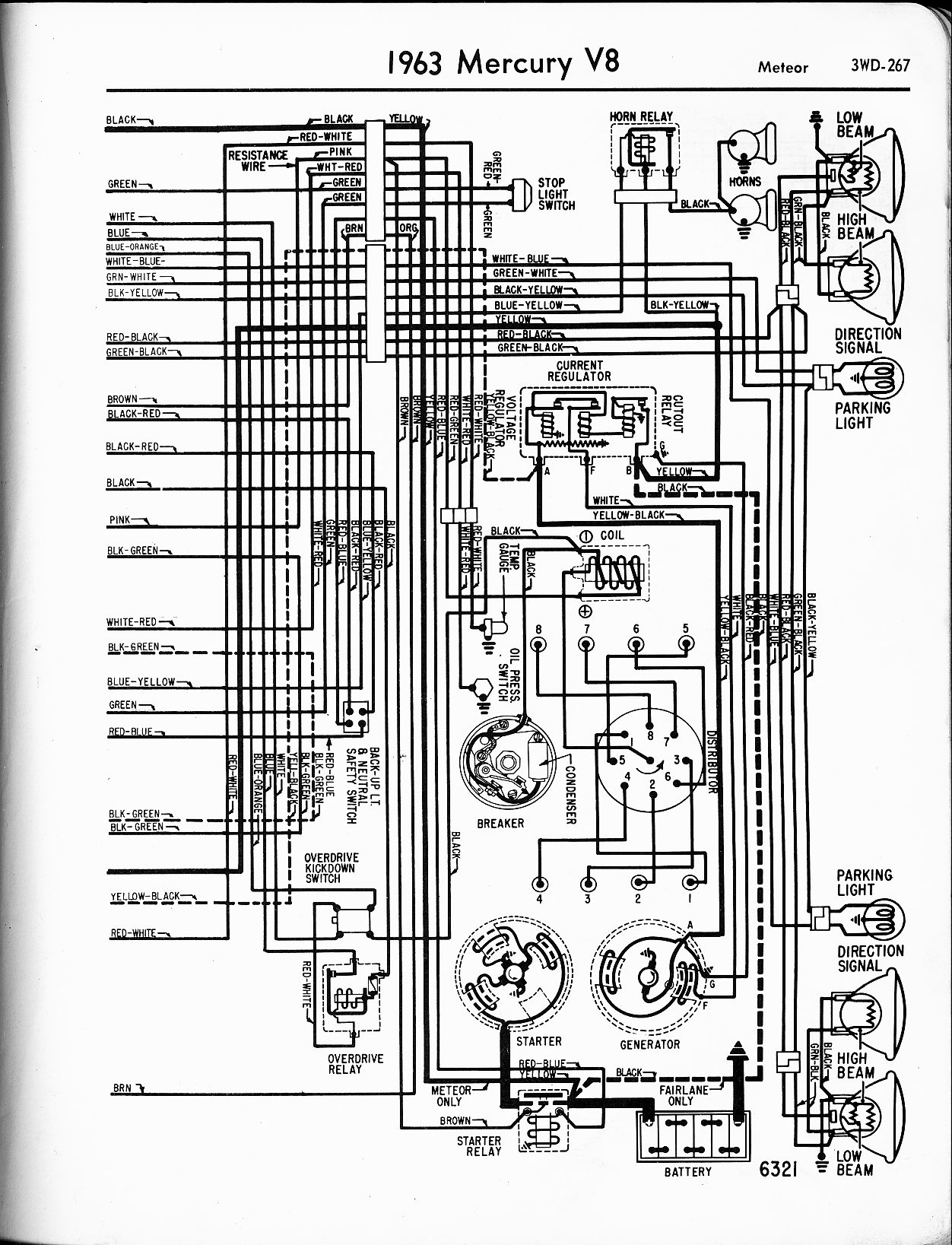 Mercury wiring diagrams the old car manual project rh oldcarmanualproject 1963 chevy nova wiring diagram