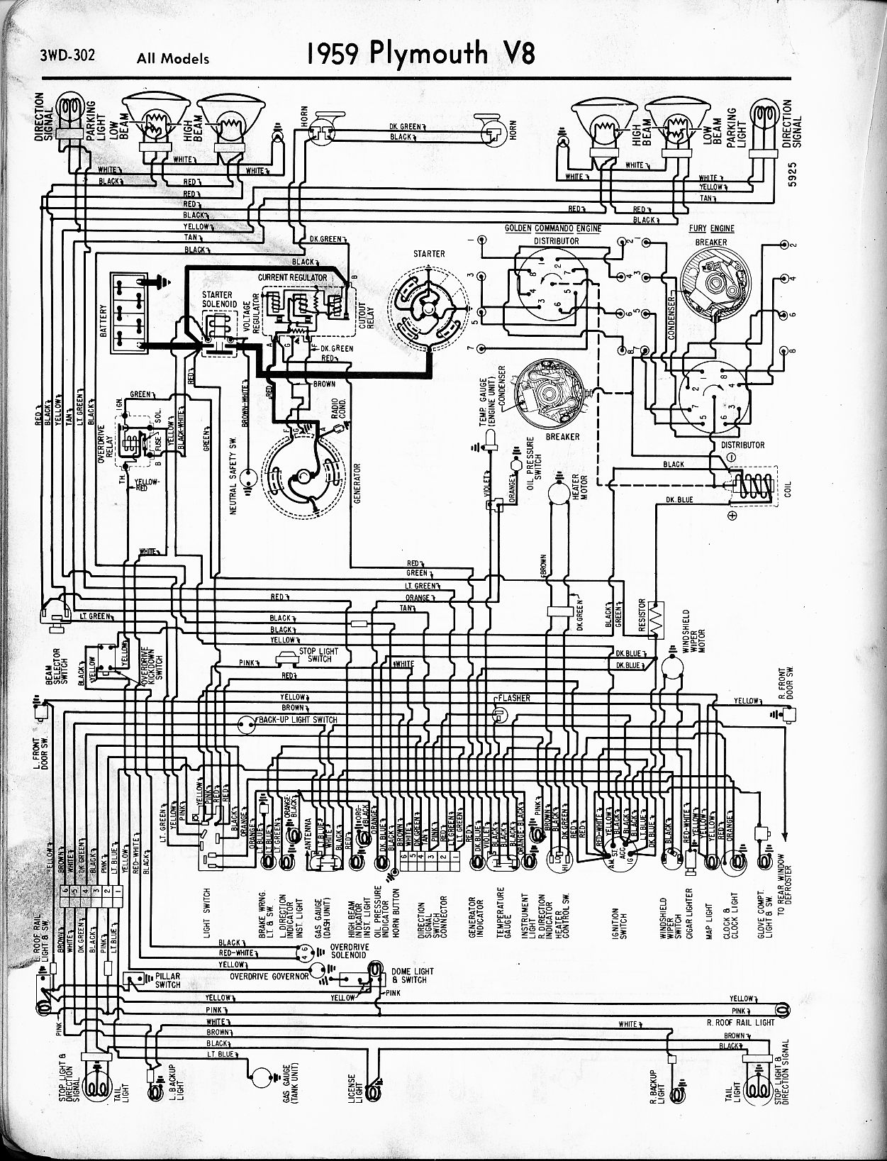Chevy wiring diagrams 1956 1965 plymouth wiring the old car manual project