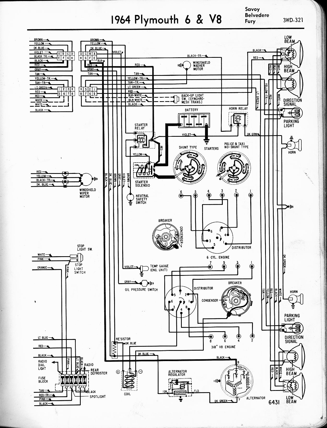 1953 Plymouth Wiring Diagram