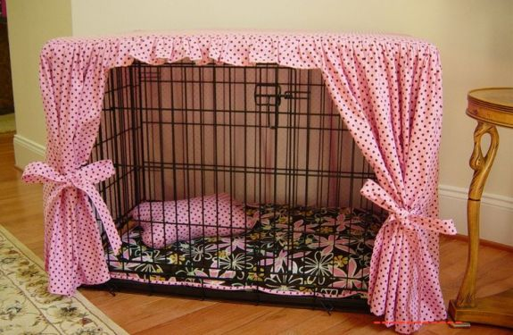 beautiful dog's crate