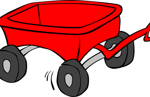 cartoon figure of a red wagon