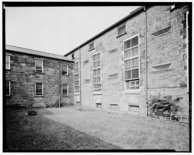 The yard where convicts were executed until 1902