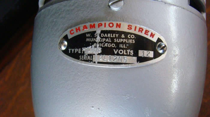 Small Size 12 Volt DC Champion Siren Amp Red Light