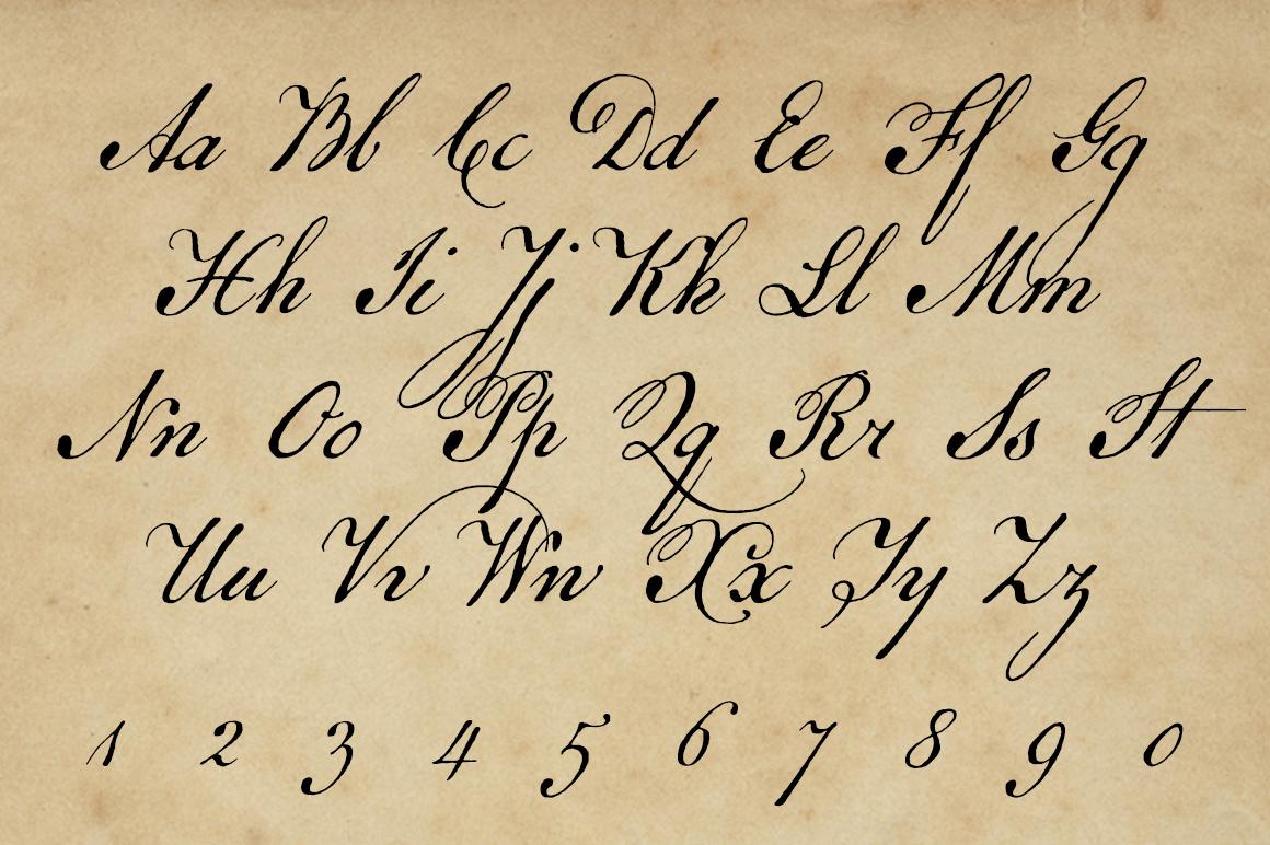 Oldfonts Com Remsen Script A Colonial American Handwriting Font
